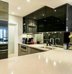 Like the sliding glass door to the pantry and the placement of the stove and sink
