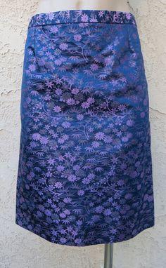 First silk brocade skirt I've seen ALady. Vintage 1960's purple silk Asian brocade by CatttywampusVintage