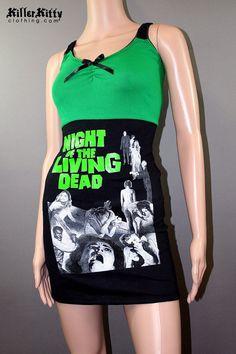 Night Of The Living Dead Horror Movie Zombie Tank by KillerKitty