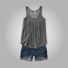 Spirited Aeropostale Tank Top Shirt With Sequin Lace & Pair Of Capris Size Xs Do You Want To Buy Some Chinese Native Produce? Mixed Items & Lots