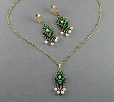 Vintage Sarah Coventry Pendant Necklace Matching by jujubee1, $26.50