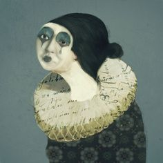 "Sarah Jarrett, ""Little Pierrot"", Illustration, iPhoneography, 2013"