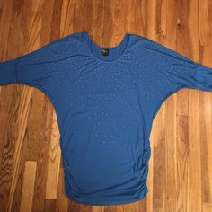 Blue Studded Top Use 1x, stretchy material and flattering. In good condition Serena Williams Tops Blouses