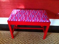 DIY red bench