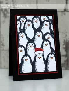 A quick and inexpensive card made using Snow Way/Penguin stamp set from Stampin Up made by Michelle Last design team member for Technique 101