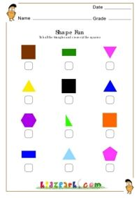 Tick Triangle Cross Out The Squares Worksheet