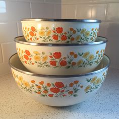 I love just about all enamelware. I love the flowers and the colors.   https://www.etsy.com/listing/267966867/kobe-enamelware-nesting-bowls