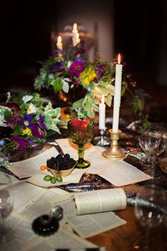 The Decemberists inspired table // photo by Sean & Amanda Photography // View more: http://ruffledblog.com/the-decemberists-inspiration-shoot/