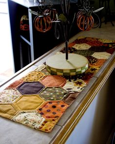 Fall table runner.