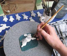 Hand painted Porcelain Delft Jewellery by Harriet Demave
