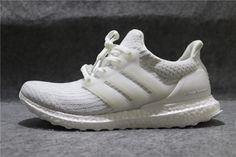 "d6668432888 Adidas Ultra Boost 3.0 ""All White"" BA8841 All White"