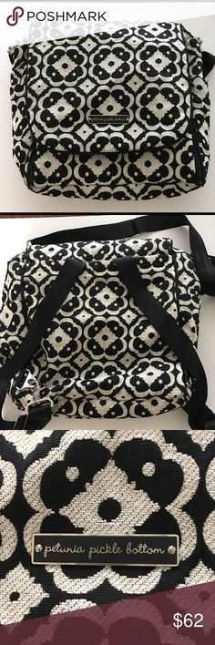 Petunia Pickle Bottom Diaper Bag.  Like new. Like new, only used a few times.  Backpack and shoulder straps.  Built in changing pad. Petunia Pickle Bottom Bags Baby Bags