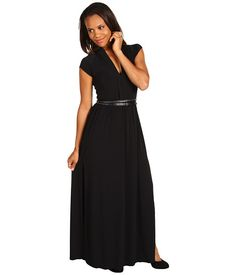Kenneth Cole New York Knit Maxi Dress w/ Belt