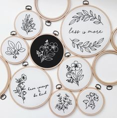 Sometimes less is more. shows us how it's done ⚫⚪ Sometimes less is more. shows us how it's done ⚫⚪ Indian Embroidery Designs, Embroidery Designs Free Download, Hand Embroidery Stitches, Modern Embroidery, Embroidery Hoop Art, Cross Stitch Embroidery, Broderie Simple, Crafty, Flowers Instagram