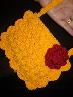 269dbe553 كروشيه طريقة عمل شنطة (حقيبة) للاطفال - How to crochet nice hand bag #  كولكشن collection #