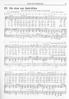 Culture of South Africa West Africa, South Africa, National Anthem, My Land, History Facts, Sheet Music, Music Sheets, Good Music, Culture