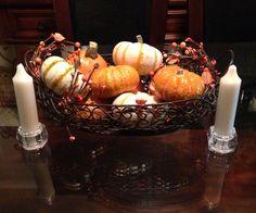 Arreglos de mesa para el otoño