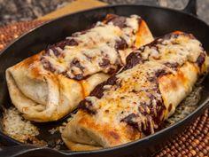 Green Chile Chicken Burrito recipe from Guy Fieri via Food Network w/Black beans & Cilantro Cabbage slaw