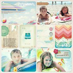 Becky Higgins Digital Project Life | Summer Theme Pack Layout by Jenn McCabe