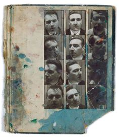 Photobooth Pictures of Francis Bacon and George Dyer (found in Bacon's Studio)