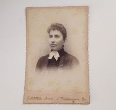 Antique Photo Cabinet Card ID'd Nora Remington Tunkhannock PA Harris  | eBay