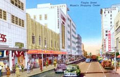 Woolworth, McCrory's, Grants, Burdine's, Lerner Shops (Flagler Street)