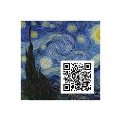Sternennacht, Vincent Van Gogh, QR-Code, QR-Kunstwerk