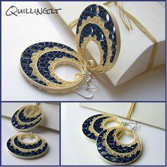 Šių auskariukų modelis nėra naujas, tačiau buvo įdomu išbandyti naujas spalvas...šį kartą mėlyni atspalviai...                              ...