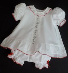 Christmas Baby Girl Dress and Panty Cover by justforbabyonline, $63.00