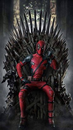 """Game of Deadpool """"You win or you Die"""" GoT Game of Thrones theme phone wallpaper lock screen background. For iPhone and Android. Deadpool Art, Deadpool Funny, Deadpool Pikachu, Film Deadpool, Deadpool Tattoo, Deadpool Quotes, Deadpool 2016, Lady Deadpool, Deadpool Wallpaper"""