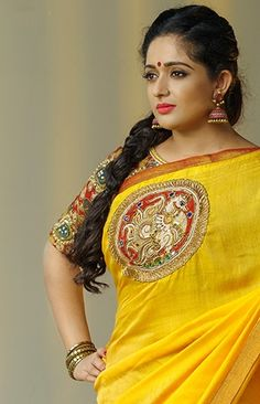 Find Kavya Madhavan's celebrity style wears on our online shopping website Laksyah and get it as yours. Beautiful Girl Indian, Beautiful Girl Image, Most Beautiful Indian Actress, Beautiful Saree, Beauty Full Girl, Beauty Women, Beauty Box, Kerala Saree Blouse Designs, Simple Sarees