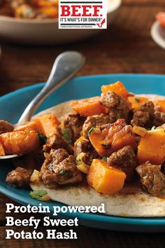 Beefy sweet potato hash in 2019 protein for strength Lamb Recipes, Potato Recipes, Meat Recipes, Mexican Food Recipes, Whole Food Recipes, Dinner Recipes, Cooking Recipes, Healthy Recipes, Irish Recipes