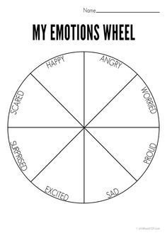 Art therapy activities autism My Emotions Wheel Printable [use with Solution emotion flow] Counseling Activities, Art Therapy Activities, Counseling Worksheets, Anger Management Activities, Therapy Games, Group Counseling, Group Activities, Speech Therapy, Teen