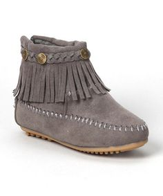 Loving this Gray Fringe Ankle Boot on #zulily! #zulilyfinds