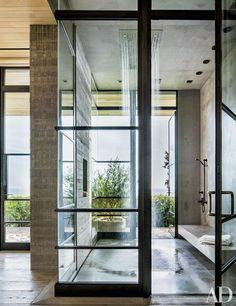 Master Bath : Real-Estate Maven Kurt Rappaport's Striking Malibu Home rain shower