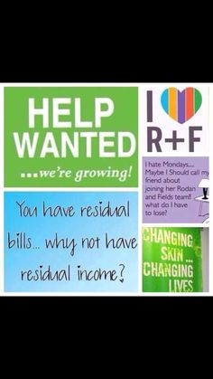 Work from home. Online work. Now hiring. Help wanted! Help people! Skincare. Message ME !!! or g to www.mknight1.myrandf.com