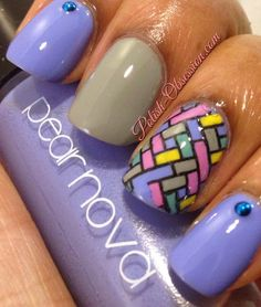 #PearNova Blue Magic and some stamping #nailart