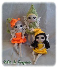 tinkerbell crochet #amigurumicrochet #crochetdoll #féeaucrochet