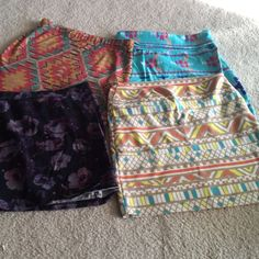 Set of 4 mini skirts Three Nollie size medium. One H&m size 4 mini skirts Skirts Mini