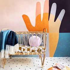 Put Your Hand Up if you love this beautiful styling⠀  @rachelcastleandthings ?! 🤚⠀  How gorgeous is her new fern bedding pictured in our XL King bassinet here? Loving this mix of colour 😍⠀  These bassinets were designed so that you get longer use out of them, they're a huge 1.2 metres long! So they should last your little babe from about 12-18 months. ⠀  We have just one left in stock available to ship now 😁⠀  ⠀  #punchofcolour #linenlovers #ratt Teen Bedroom, Bedroom Decor, Bed Picture, Rattan Furniture, Fern, 18 Months, Bassinet, Color Mixing, Baby Room