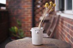 Ceramic Flower Pots, Ceramic Vase, Incense Holder, Candle Holders, White Polar Bear, Zoo Keeper, Egg Holder, Cat Mug, Pottery Mugs