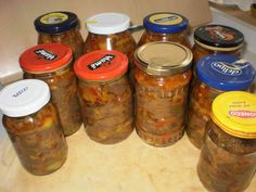 Houb.směs Kimchi, Salsa, Mason Jars, Stuffed Peppers, Homemade, Canning, Food, Meal, Salsa Music