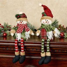 Charisma Snowman Couple Shelf Sitter Set