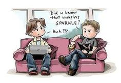Sam and Dean Winchester discussing vampires...