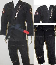 Quano Black N' Tan Premium Competition Gi Jiu Jitsu Gi, Motorcycle Jacket, Competition, Jackets, Closet, Collection, Black, Fashion, Kimonos
