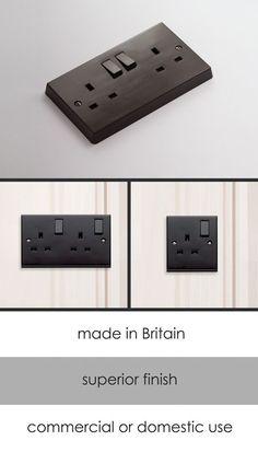 <span style='color: #000000;'>Bakelite Electrical Plug Socket (129B)</span>