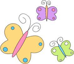 Springtime Butterfly Clip Art