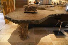 concrete island | Kitchen Concrete Countertop | Concrete Countertops Design Gallery