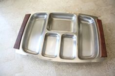 Danish Stainless Steel Divided Tray with by BlueVintageSuitcase, $15.00