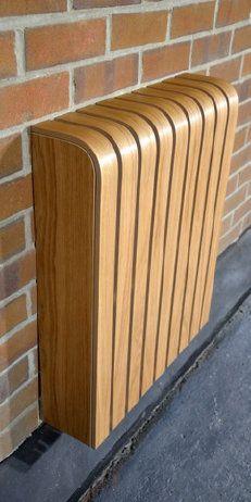 Radiator cover in oak